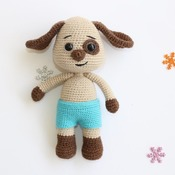 Doody the Dog / amigurumi toy / PATTERN - Amigurumi Animal/Crochet Dog/