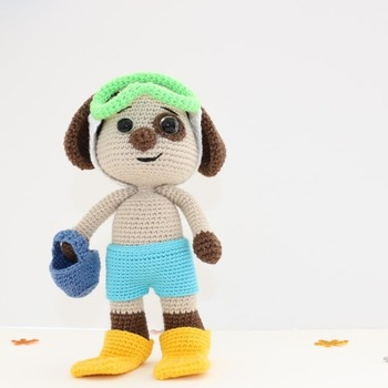 Doody the Dog / amigurumi toy / PATTERN - Amigurumi Animal/Crochet Dog/