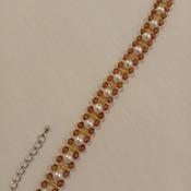 Handmade White Pearl Brown Bracelet