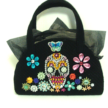 Jeweled Day of the Dead Handbag