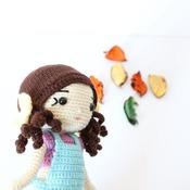 AMIGURUMI pattern - Litle Girl crochet pattern / Nellybery doll