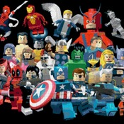 counted cross stitch pattern lego marvel superheroes 320 * 245 stitches CH1169