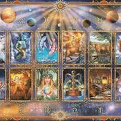 counted cross stitch pattern zodiac sign astrology 496*352 stitches CH2044