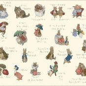 Counted cross Stitch Pattern beatrix potter characters 431 * 362 stitches CH1117