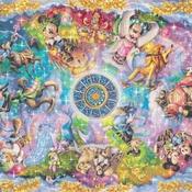 counted Cross stitch pattern disney zodiac themes 495 * 344 stitches CH2253