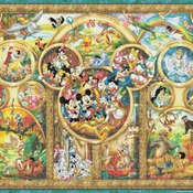counted cross stitch pattern The Best Themes disney 496*372 stitches CH678