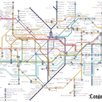 Counted Cross Stitch Pattern Tube map London pdf chart 493x326 stitches CH1178