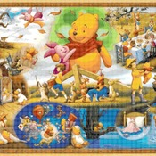 Counted Cross Stitch winnie the pooh party scene pdf 441 * 303 stitches CH1725