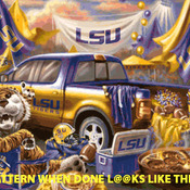 LSU Tigers Tailgate Cross Stitch Pattern***LOOK***X***INSTANT DOWNLOAD***