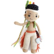 PATTERN - Amigurumi Native American Indian Boy Matto/Crochet doll/crochet native/amigurumi toy