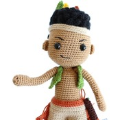 PATTERN - Amigurumi Native American Indian Boy Matto/Crochet doll/crochet native/amigurumi toy