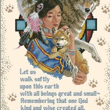 CRAFTS Gentle Wisdom Cross Stitch Pattern***LOOK***