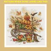 CRAFTS Fall Pumpkins Cross Stitch Pattern***LOOK***