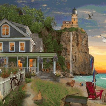 CRAFTS Beachside Lighthouse Cross Stitch Pattern***LOOK*** PREVIEW A SAMPLE OF MY PATTERNS DETAILS BELOW