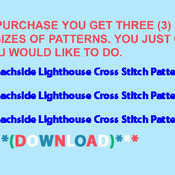 CRAFTS Beachside Lighthouse Cross Stitch Pattern***LOOK***Buyers Can Download Your Pattern As Soon As They Complete The Purchase