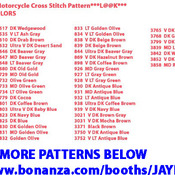 CRAFTS BORN IN THE USA Motorcycle Cross Stitch Pattern***LOOK***