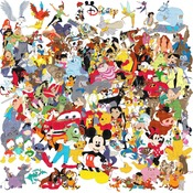 counted cross stitch pattern All characters of Disney 496*496 stitches CH007