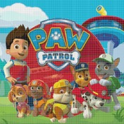 Counted Cross Stitch pattern paw patrol pdf embroidery 290 * 269 stitches CH1179