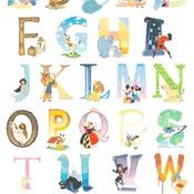 counted cross stitch pattern disney alphabet 311*448 stitches pdf file CH1647