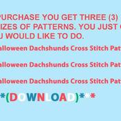 CRAFTS Halloween Dachshunds Cross Stitch Pattern***L@@K***