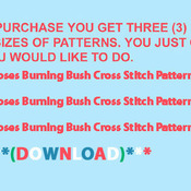 CRAFTS Moses Burning Bush Cross Stitch Pattern***LOOK***