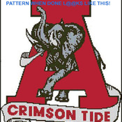 CRAFTS ALabama Crimson Tide FootBall Cross Stitch Pattern***LOOK***Buyers Can Download Your Pattern As Soon As They Complete The Purchase