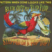 CRAFTS Blew Out My Flip Flop Cross Stitch Pattern***L@@K***Buyers Can Download Your Pattern As Soon As They Complete The Purchase