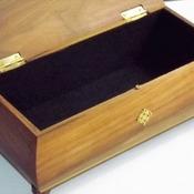 FREE POST - Decorative Solid HARDWOOD Jewellery Box. Trinket keepsake Box & Wooden Storage Box.