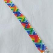 Handmade 3D Triangle Rainbow Bracelet Jewellery