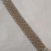 Handmade Gold Silver Black Net Bracelet Jewellery