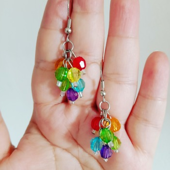 Handmade Multi Colour Earrings Jewellery