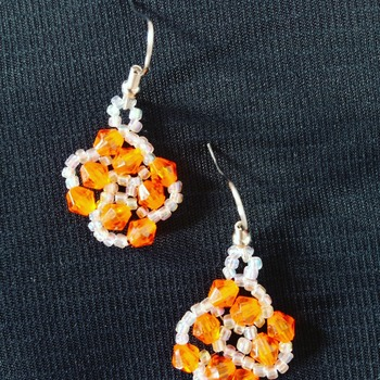 Handmade Orange Earrings Jewellery