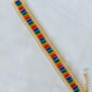 Handmade Rainbow Flat Bracelet Jewellery Accessories