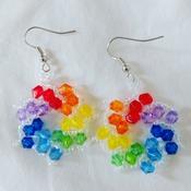 Handmade Rainbow Spiral Earrings Fashion Accessories Jewellery
