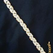 Handmade Triangle Crystal Glass Beads Bracelet Jewellery