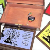 FREE POST - CHAKRA GIFT SET - LOCKABLE Tree of Life Wooden Box with all 7 Major Chakra Wall plaques & Free glass Sun Catcher. Spiritual Gift