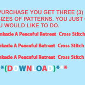 CRAFTS A Peaceful Retreat  Cross Stitch Pattern***L@@K***Buyers Can Download Your Pattern As Soon As They Complete The Purchase