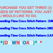 CRAFTS Branding Time Cross Stitch Pattern***LOOK***Buyers Can Download Your Pattern As Soon As They Complete The Purchase