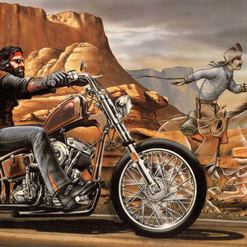 CRAFTS Ghost Rider Biker Cross Stitch Pattern***LOOK***
