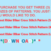 CRAFTS Ghost Rider Biker Cross Stitch Pattern***LOOK***Buyers Can Download Your Pattern As Soon As They Complete The Purchase