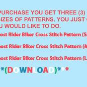 CRAFTS Ghost Rider Biker Cross Stitch Pattern***LOOK***