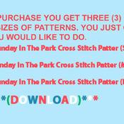 CRAFTS Sunday In The Park Cross Stitch Pattern***L@@K***