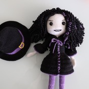 Dark Witch/Halloween/handmade/crochet witch / Amigurumi Pattern Pdf