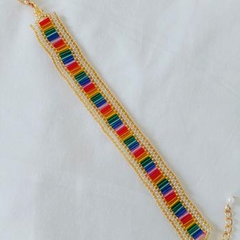 Handmade Rainbow Flat Bracelet Jewellery