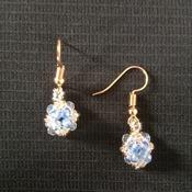 Handmade Tiny Square Crystal Glass Beads Bracelet Earrings Set Jewellery