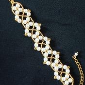 Handmade White Pearl Golden Bracelet Jewellery