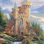 CRAFTS Kinkade Guardian Castle Cross Stitch Pattern***LOOK***Buyers Can Download Your Pattern As Soon As They Complete The Purchase