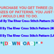 CRAFTS Bell By The River Cross Stitch Pattern***L@@K***