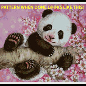 CRAFTS Cherry Blossom Panda Cross Stitch Pattern***L@@K***Buyers Can Download Your Pattern As Soon As They Complete The Purchase
