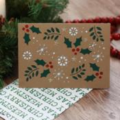 Christmas Holly Christmas Card